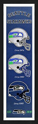 (Winning Streak Seattle Seahawks Framed Heritage Banner 13x36 inches)