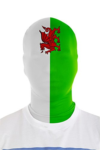 Red And White Morphsuit (Morphsuits Morphmask Flag Wales, White/Green/Red, One Size)