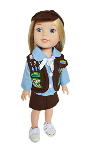 Brittany's My Brownie Girl Scouts Outfit Compatible with Wellie Wisher Dolls-14 Inch Doll Clothes