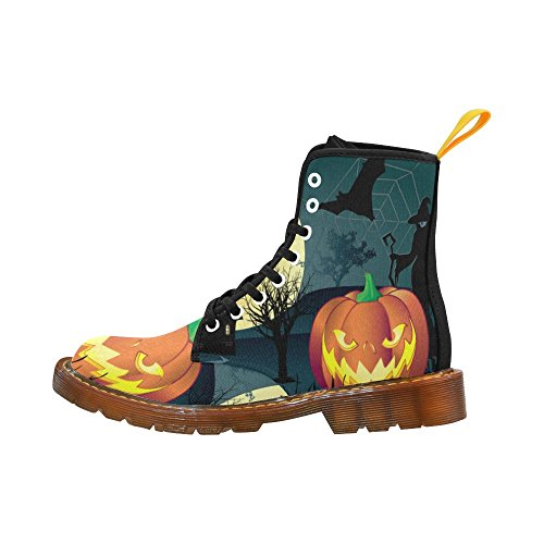 D-story Shoes Happy Halloween Pumpkin Lace Up Martin Boots Per Uomo Halloween2