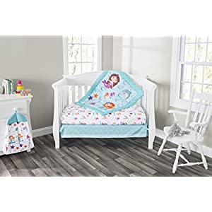 Everyday Kids 3 Piece Girls Crib Bedding Set Mermaid Adventures