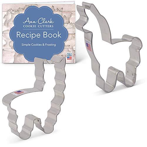 Llama/Alpaca Cookie Cutter Set with Recipe Booklet - 2 Piece - Ann Clark - Tin Plated Steel