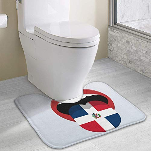 casually Dominican Flag Cute Bath Mat Toilet Carpet Doormats Floor Mat for Bathroom Toilet 19.2″x15.7″