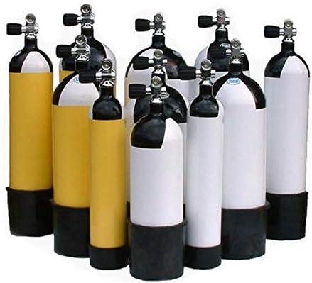 METALSUB Botella Buceo 15 litros 232 Bar Faber con Culote y Grifo Fabricada en 2020.