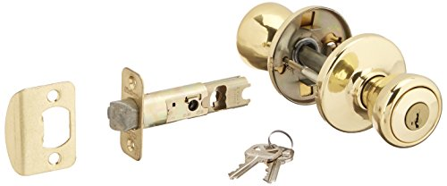 Brass Finish Door Locks - Kwikset 400T-3S Tylo Entry Door Locks Smart Key Bright Brass Finish