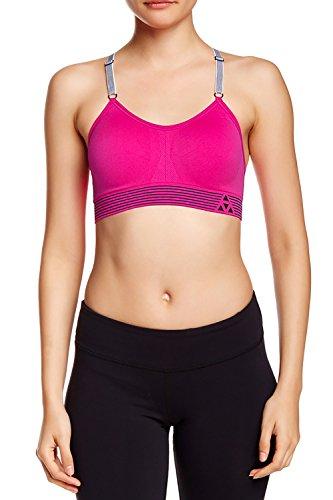 Balanced Tech Women's Ultimate Performance Seamless Sports Bra - Pink Glo - Medium