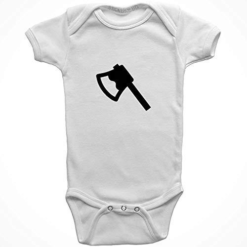 Stickerslug Hatchet Onesie Baby Clothes Jumper (White, 6 Months) b21694