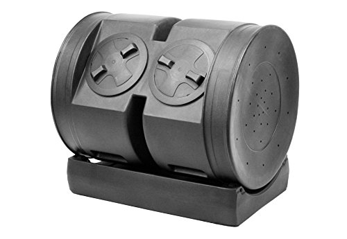 Good Ideas CW-2X12 Senior Wizard Dual Tumbler Compost Bin (Tumbler Plastic Composter)