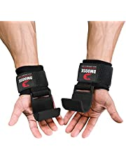 Gewichtheffen Haken Grip - Training Polsriemen, antislip coating, 8 mm dik gewatteerd neopreen, dubbele stiksels maken ze premium workout haak handschoenen voor gewichtheffen en oefening (paar)