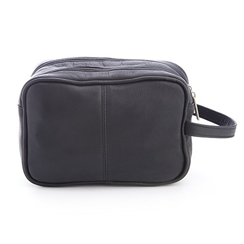 Royce Leather Men's Colombian Leather Travel Toiletry Bag, Black by Royce Leather