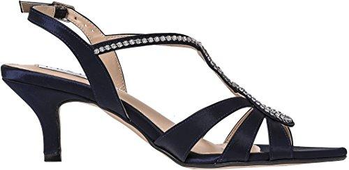 LEXUS - Sandalias de vestir para mujer azul marino
