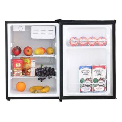 Midea WHS-87LSS1 Compact Single Reversible Door Refrigerator, 2.4 Cubic Feet, Stainless Steel