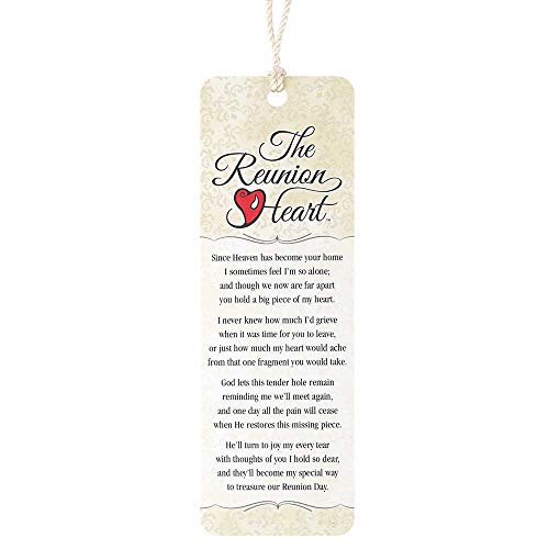 The Reunion Heart Memorial Cream Pattern Cardstock Tassel Bookmarks, Pack of - Reunion Bookmark Heart