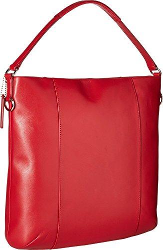 COACH Women's Leather Isabelle Shoulder Bag Classic Red Handbag