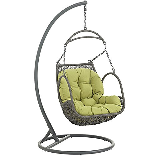 Cheap Modway EEI-2279-PER-SET Arbor Outdoor Patio Balcony Porch Lounge Swing Chair Set with Stand Peridot