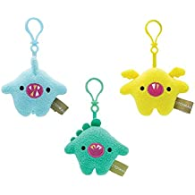 Toymail Weensie: Silly Sound Maker Clips, Hank a Dino, Bitsy a Bat, Gory a Shark (set of 3)