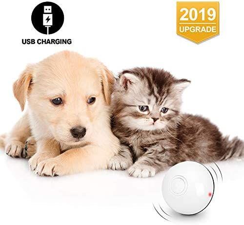 Octarch Interactive Cat Toy, USB Rechargeable Cat Toy Ball,360 Degree Automatic Rolling Pet Toy,Glitter Led Light Attact Your Kitty More Exercise and Stimulate Hunting Instinct 2