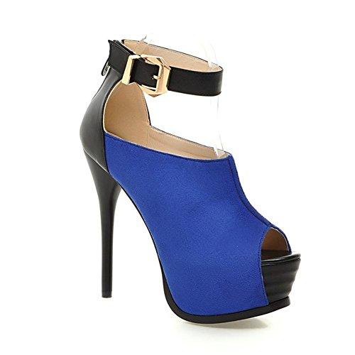 5 Donne Blue Cinghia Sbirciare Caviglia Le Sandali Nvxie DimensioneEur Dito uk Stiletto Cinghietti 38 Piattaforma Alto eur38uk55 Signore Del Sexy Tacco 5 Piede Scarpe nP0XNwk8O