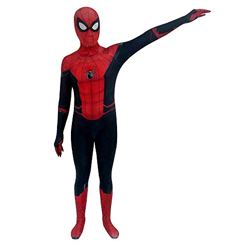 Superhero Zentai Bodysuit Halloween Adult/Kids 3D Printed Cosplay Costumes (Kids-L, Red) -