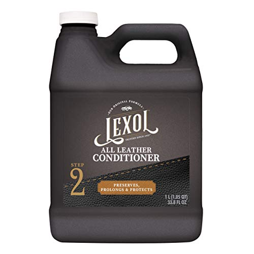 Lexol Leather Conditioner, 1 Liter, Leather Cleaner and Deep Conditioning Since 1933 For Use on Apparel, Furniture, Auto Interiors, Shoes, Bags and More