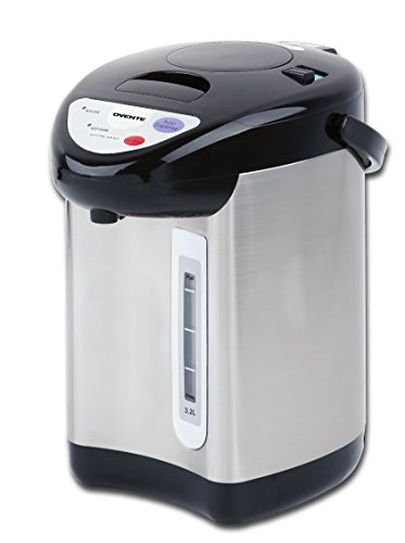 OVENTE WA32S 3.2 Liter Insulated Water Dispenser with Boiler and Keep Warm Function,Black Stainless Steel, 3.2L, Silver