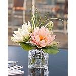 Lotus-Blossom-Lily-Pad-Silk-Flower-Arrangement