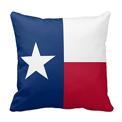MARCOMAX Square Pillow Case Texas State Flag American Mojo Square Pillow Cover