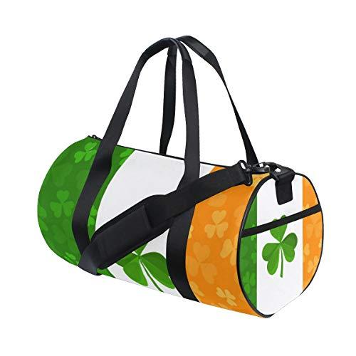 - Duffel Bags Irish Flag Clover Womens Gym Yoga Bag Small Fun Sports Bag for Men
