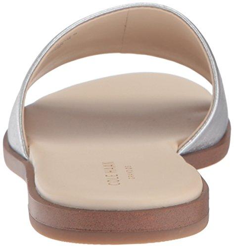 Cole Women's Anica Silver Metallic Sandal Slide Haan r5qP8r