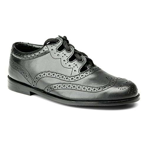 AE Struthers - Thistle The Boys Brogue - Traditional Leather Ghillie Brogue with Rubber sole -