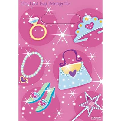 Amscan Princess Loot Bags - 8 ct -- multicolor: Toys & Games