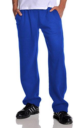 Pro Club Men's Open Bottom Comfort Fleece Sweatpant, Royal B