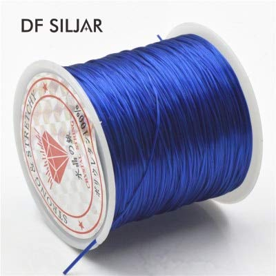 Laliva 21Colors Flat Rubber Strong Stretchy Elastic Cord for Bracelet Crystal Beading Wire Cords String Rope DIY Jewelry Findings Y1823 - (Color: Royal Blue)