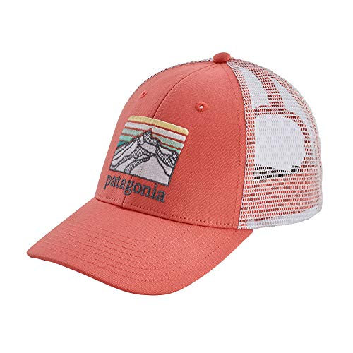 Patagonia Line Logo Ridge LoPro Trucker Hat (Spiced Coral)