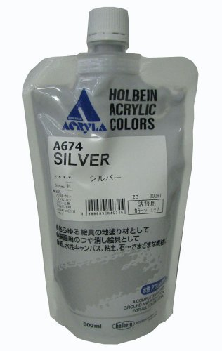 Holbein Color Gesso Silver 300ml ()