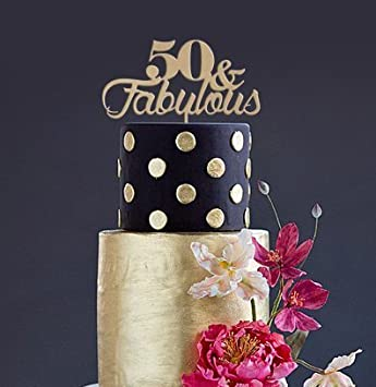 Amazoncom Cake Topper 50 FABULOUS 9 34 x10 38 inches natural