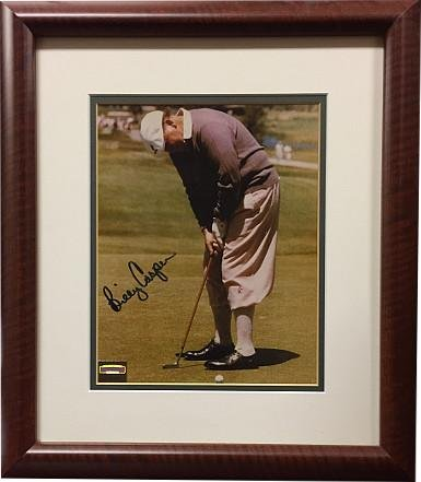 Billy Casper Autographed Photograph - Vintage 8x10 Custom Framing Memories Hologram - Mounted Memories Certified