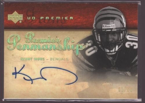 KENNY IRONS 2007 UD PREMIER ROOKIE AUTOGRAPH AUTO RC BENGALS AUBURN 1/50 $50 (Kenny Irons)
