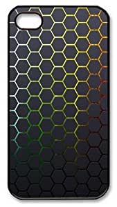iPhone 4S Case and Cover -Hexagons Textures Honeycomb Background PC case Cover for iPhone 4 and iPhone 4s ¡§CBlack