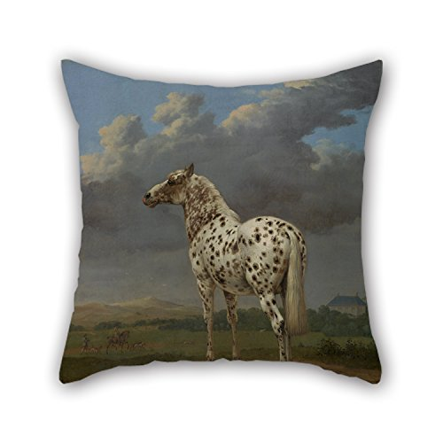 The Oil Paintingパウルスポッテル( Dutch – Piebald ' The Horseスロー枕ケースの20 x 20インチ/ 50 by 50 cmパブの装飾ギフトBoy Friend車アウトドアインドア図面部屋( 2回Sides ) B075383SQ9