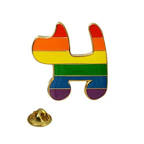 Rainbow Dog Lapel Pin ()