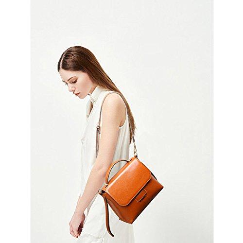 Yoome YooHY081 - Bolso al hombro para mujer Marrón marrón S Granate