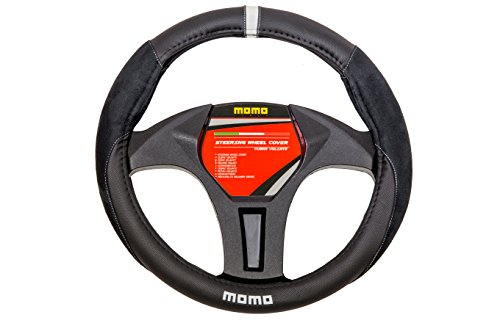 MOMO Italy -Steering Wheel Cover -Black&White -Suede Design