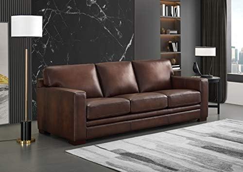 Hydeline Dillon 100 Leather Sofa Set Sofa, Brown