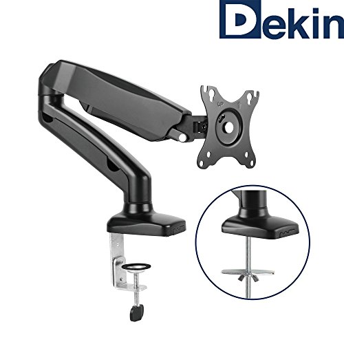 'DK201M Monitor Desk Mount Displayhalterung Gas Lift for 13inch to 27inch Diagonal Can Hold up to 6.5kg
