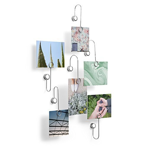 Umbra Phantom Adhesive Photo Clip, Chrome, Set of - Phantom Frame