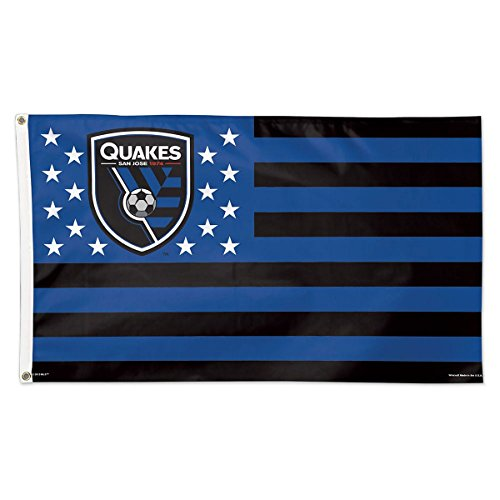 fan products of SOCCER San Jose Earthquakes 11208115 Deluxe Flag, 3' x 5'