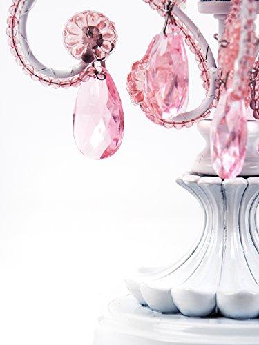 Tadpoles CTLAPL104 Chandelier Mini Table Lamp, Pink Sapphire