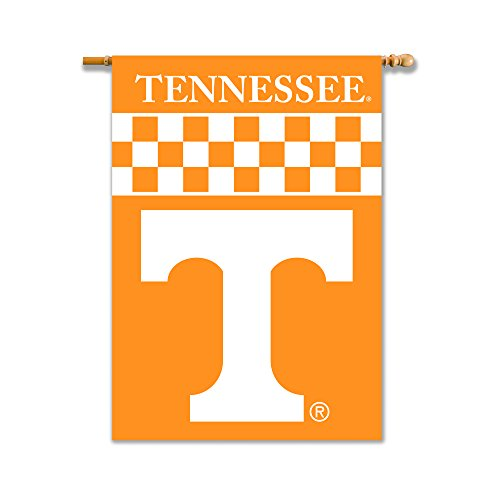 NCAA Tennessee Volunteers 2-Sided House Banner with Pole Sleeve, Tennessee Orange, One Size/28