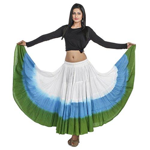 Indian Kalakari 25 Yard Cotton Belly/Tribal Dance Circle Skirt